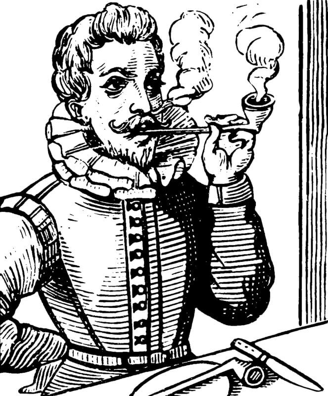 Raleigh Sir Walter Circa 1554 29101618 English Navigator Smoking Pipe Cr3Rff